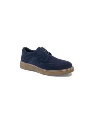 Hakiki Deri Lacivert Erkek Günlük Ayakkabı