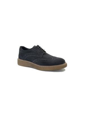 Hakiki Deri Antrasit Erkek Günlük Ayakkabı